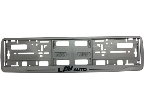 MODEL I – Okvir registarske tablice (perforirana lajsna) – Sito štampa – Siva – 173GP